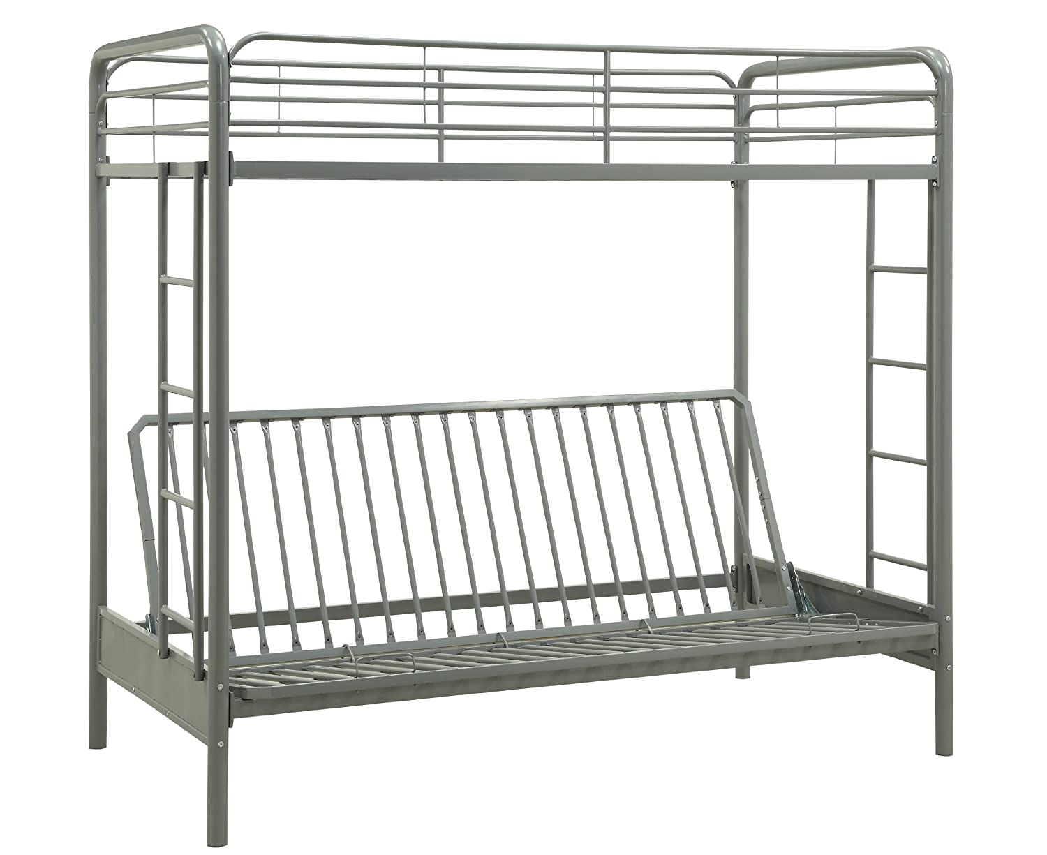 Dorel Home Products Twin-Over-Full Futon Bunk Bed, Black DHP 3137096