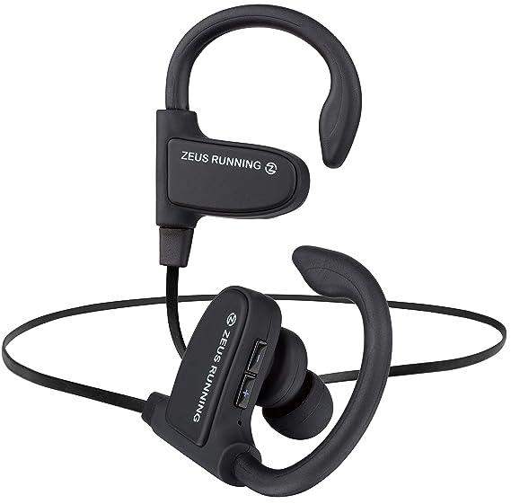 61e0bef0767 ZEUS Wireless Bluetooth Earbuds - New Model 2018 - Adjustable Ear Hooks -  Best HD Stereo