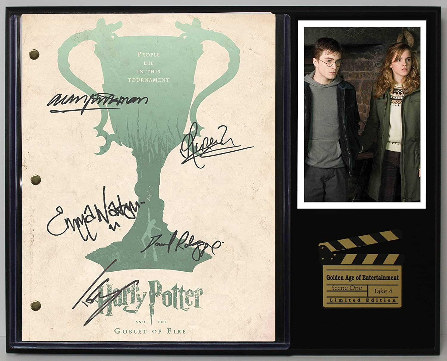 Harry Potter The Goblet Of Fire Limited Edition Reproduction Movie Script Cinema Display'C3'