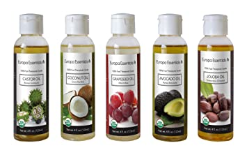 3dfc2fd8823 Europa Essentials Organic Carrier Oil Sampler Gift Set for Moisturizing  Skin