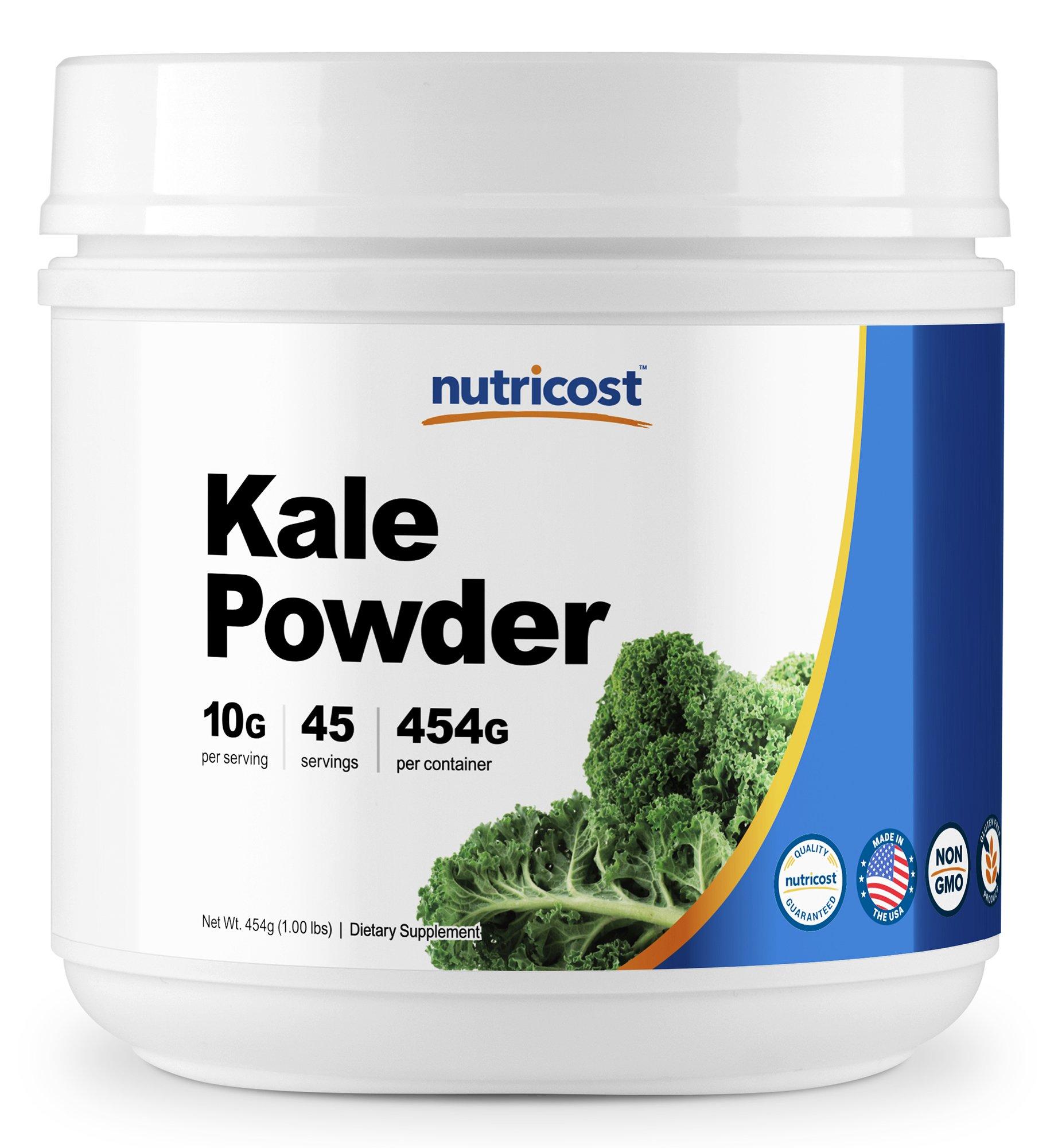 Nutricost Kale Powder 1LB - All Natural, Non-GMO, Gluten Free, Pure, Premium Kale by Nutricost