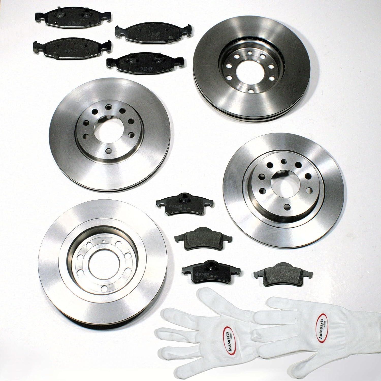 Autoparts-Online Set 60004856 Bremsscheiben Bremsen hinten* Bremsbel/äge f/ür vorne