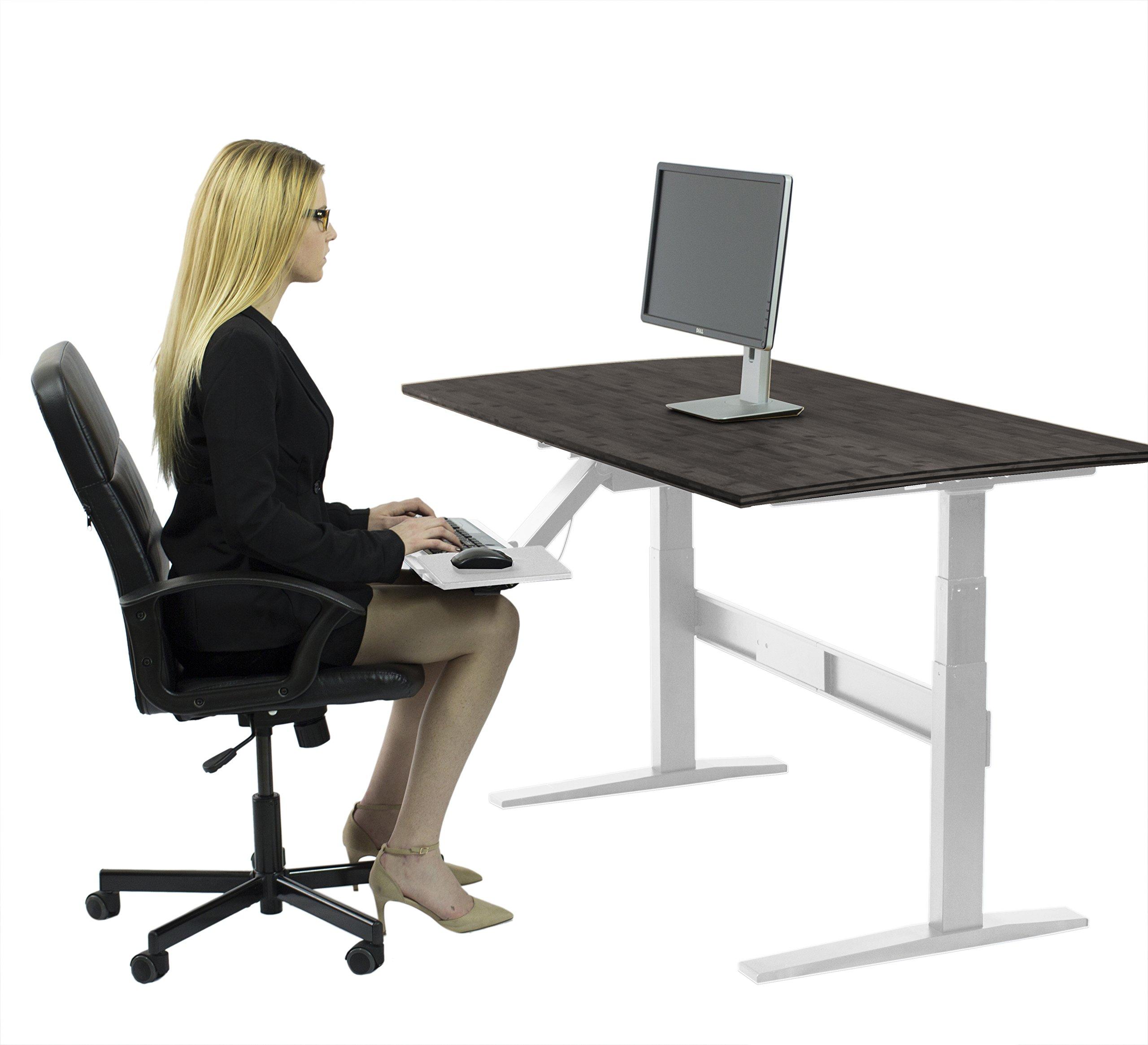 RISE UP Electric Adjustable Height Standing Desk + Beautiful Black Bamboo Desktop| Memory Keypad| 2 Motors| Affordable Ergonomic Sit Stand Office Desk by Uncaged Ergonomics (Image #4)
