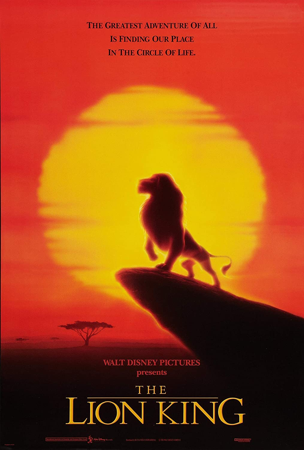 The Lion King Sunset Poster Wall Art Print Gift Poster Canvas Printing Wall Decor - 8.5
