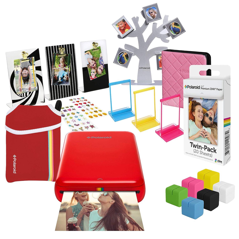 Polaroid Zip Wireless Photo Printer Ultimate Gift Bundle Red