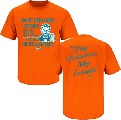 Smack Apparel Miami Football Fans I Dont Often Hate Orange T-Shirt S-5X Stay Victorious