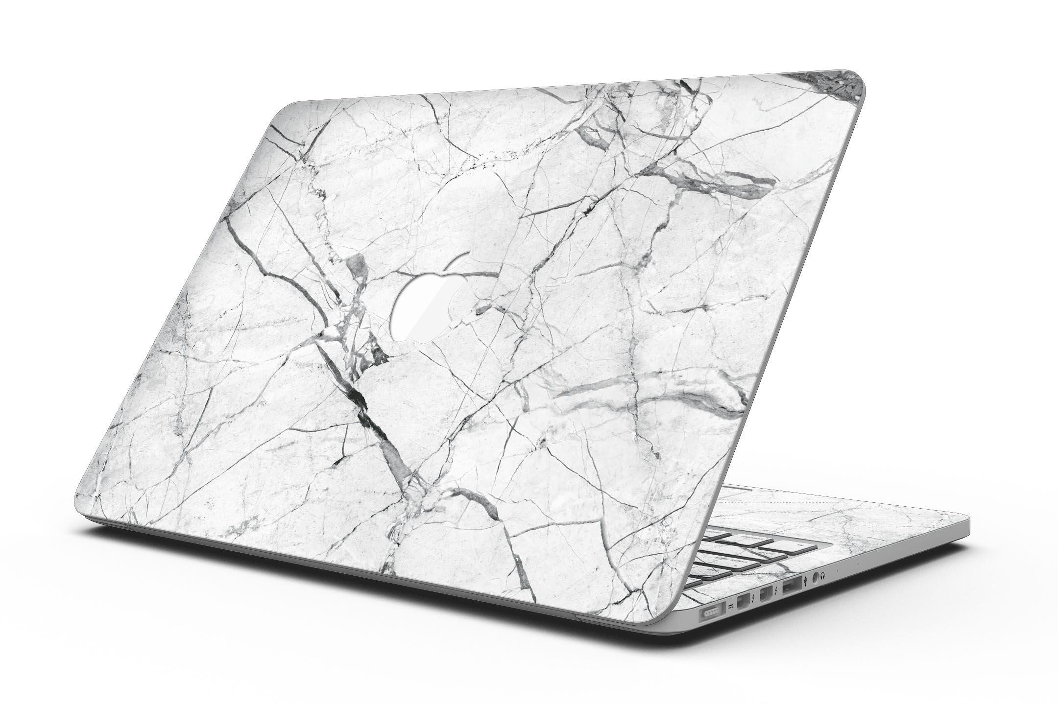 Cracked White Marble Slate - MacBook Pro with Retina Display Full-Coverage Skin Kit