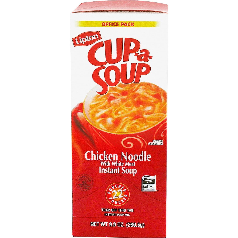 Lipton TJL03487 Cup-a-Soup, .45 oz., 22/BX, Chicken Noodle