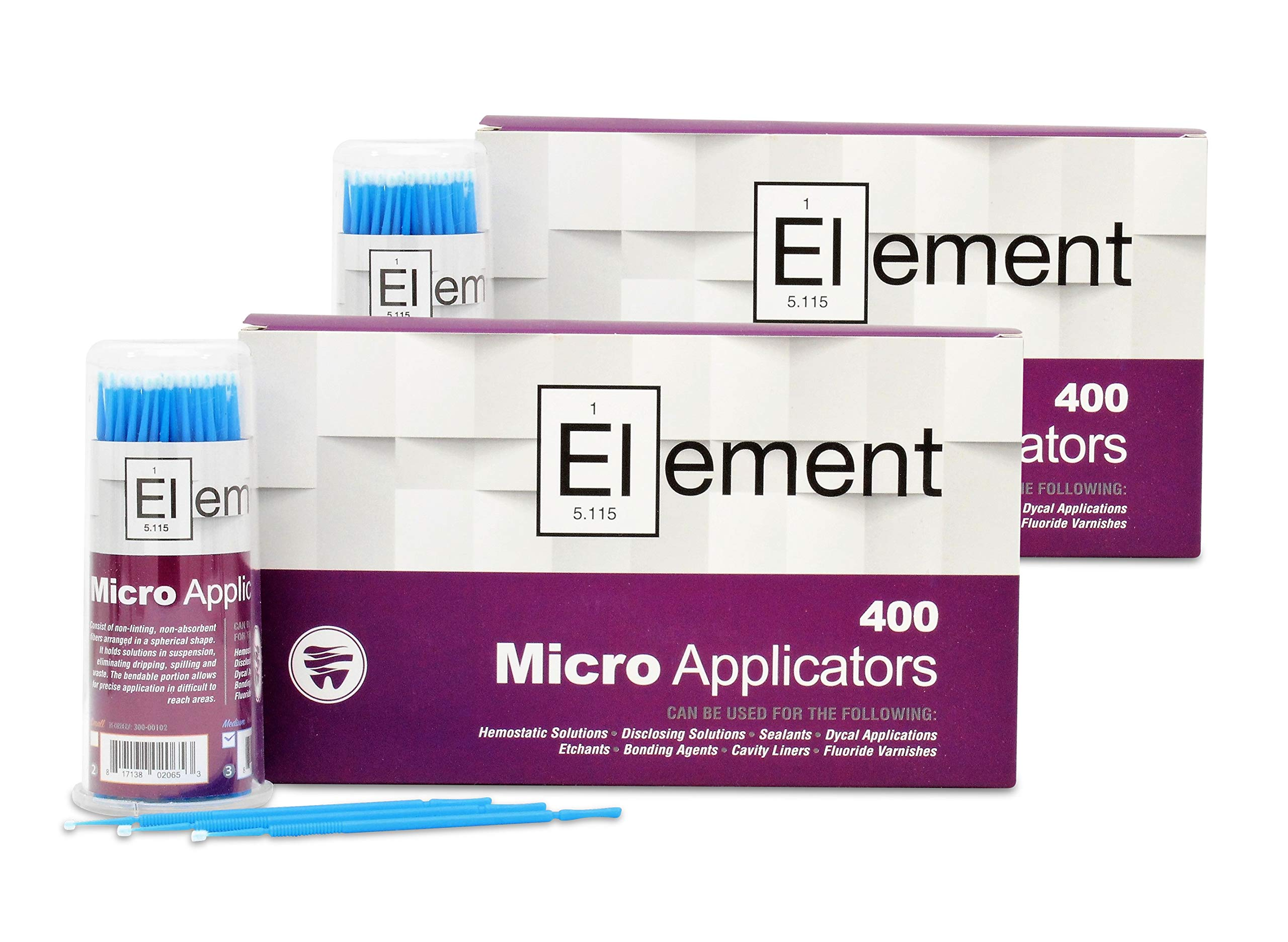 ELEMENT Micro Applicator Brush/Microbrush - MEDIUM TIP/BLUE (800 pcs)