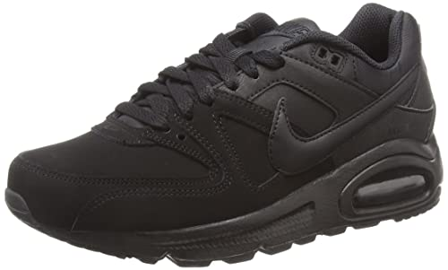 Nike Air Max Command Leather, Scarpe Running Uomo, Nero (Black/White/Action Red), 38.5 EU