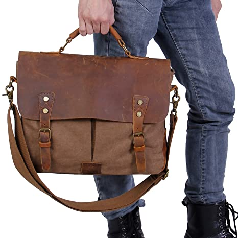 Langforth Laptoptasche Leder Herren