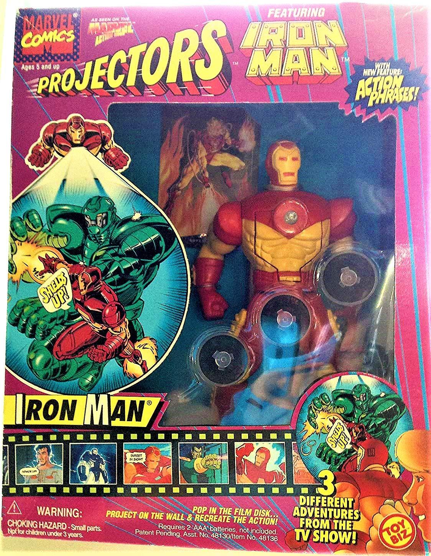 Iron Man Marvel Projectors Action Phrases 8 Figure