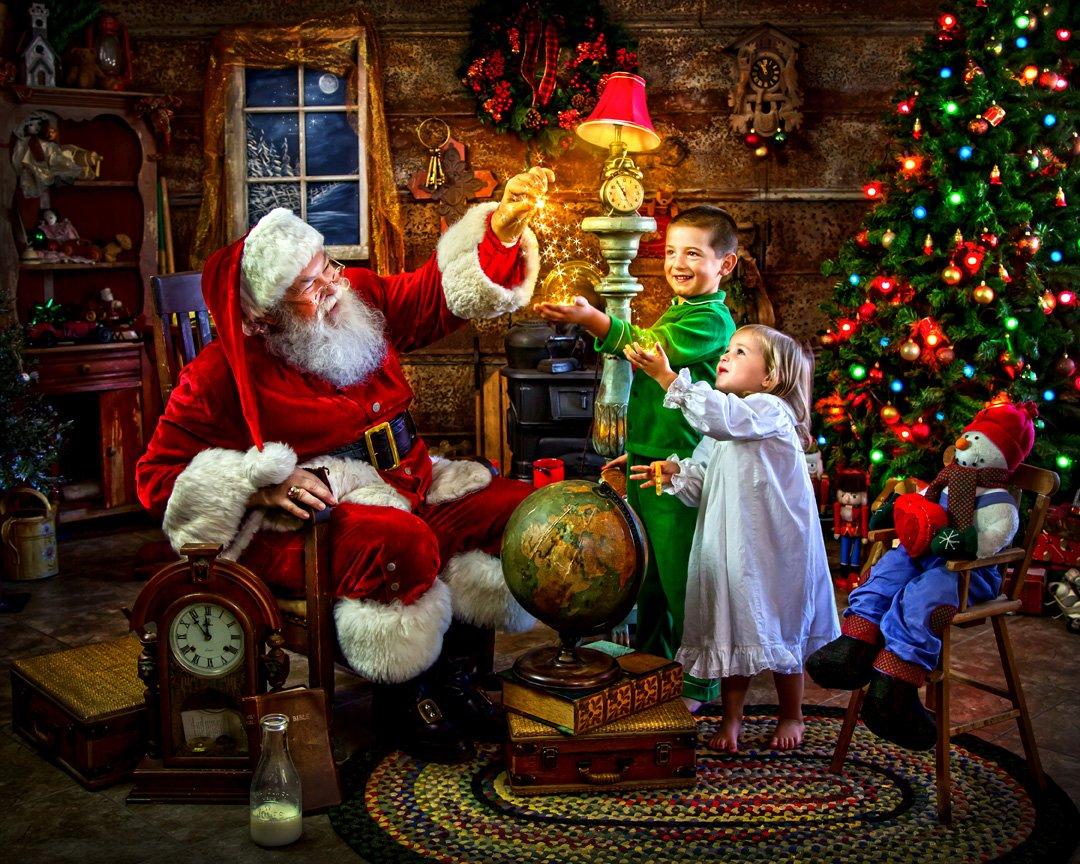 Amazon.com: Santa\'s Magic Christmas Jigsaw Puzzle 1000 Piece: Toys ...