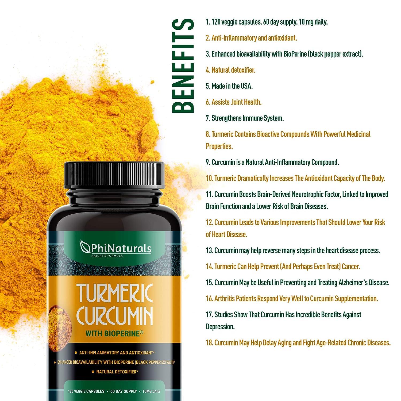 Amazon.com: Turmeric Curcumin with Bioperine Black Pepper Extract: Health & Personal Care