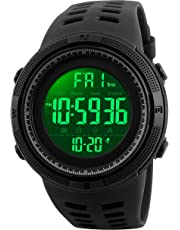 SKMEI 1251 Men Sport Digital Wristwatch Fashion Design Waterproof Multi Functions Alarm Stopwatch Waterproof 50M