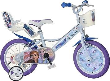 Dino Bikes 146R-FZ Niñas Ciudad Azul, Púrpura, Color Blanco ...