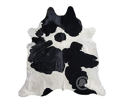 Sunshine Cowhides Tappeto di Pelle di Mucca Bianco e Nero 220 x 200 ...