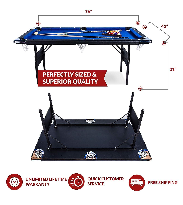 Amazon.com: Rack Vega - Mesa de billar plegable de 6.0 ft ...