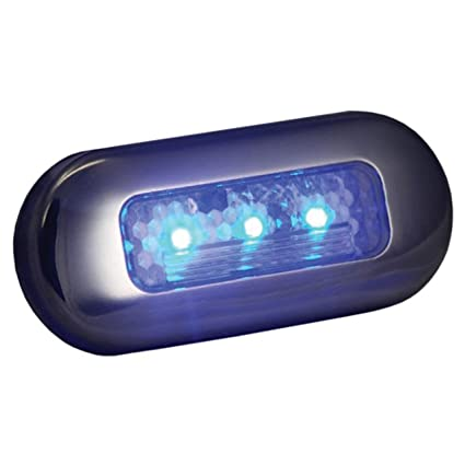 T h marine led 51823 dp led oblong courtesy lights blue