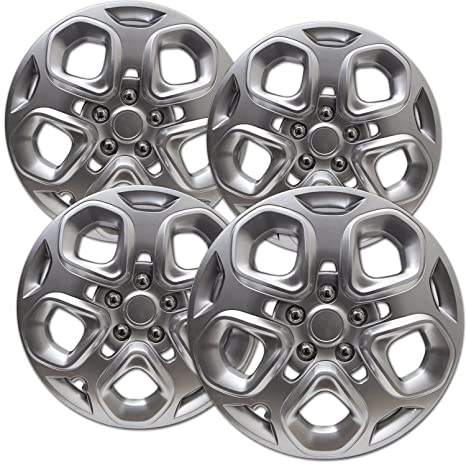 Amazon.com: OxGord Hub-caps for 10-13 Ford Fusion Ford Fusion Wheel Covers 17 inch Snap On Silver: Automotive
