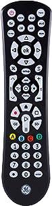 GE Universal Remote Control, Backlit, for Samsung, Vizio, Lg, Sony, Sharp, Roku, Apple TV, RCA, Panasonic, Smart TVs, Streaming Players, Blu-Ray, DVD, Simple Setup, 8-Device, Black, 41567
