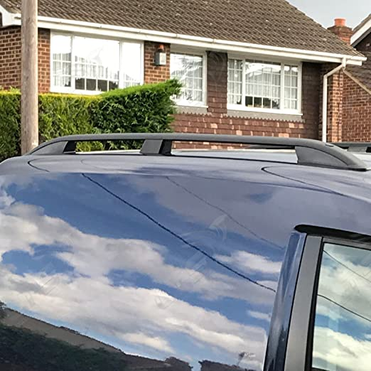 LTS AUTO ALUMINIUM ROOF RAIL BARS GREY SHORT WHEEL BASE FOR CITROEN BERLINGO PEUGEOT PARTNER TEPEE 2019-ONWARDS