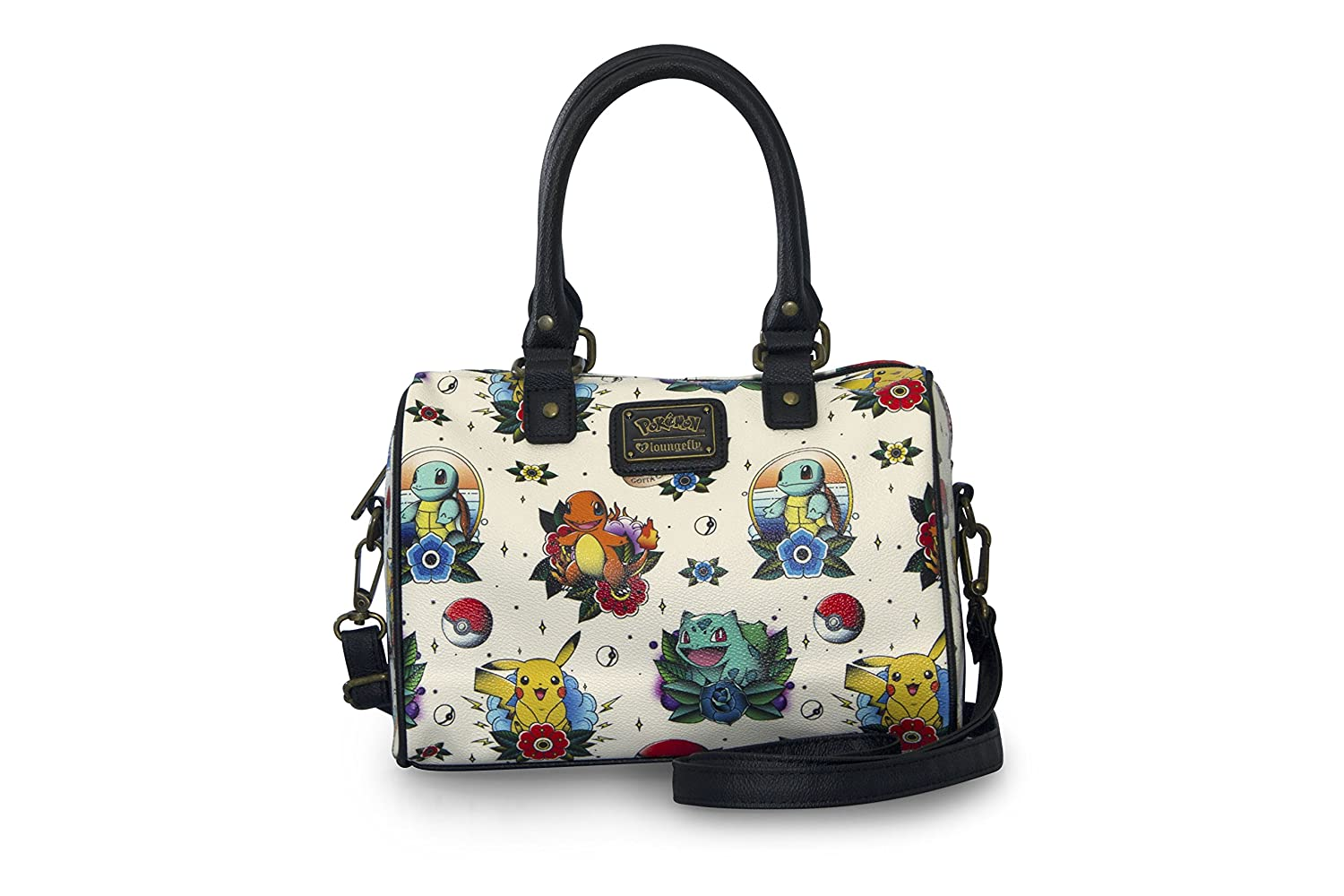 Loungefly Pokemon Go Pikachu Squirtle Bulbasaur Pokeball Shoulder Bag Purse