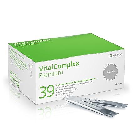 VitalComplex Premium - 39 micronutrientes de dosis alta para una normalización de la formación de espermatozoides