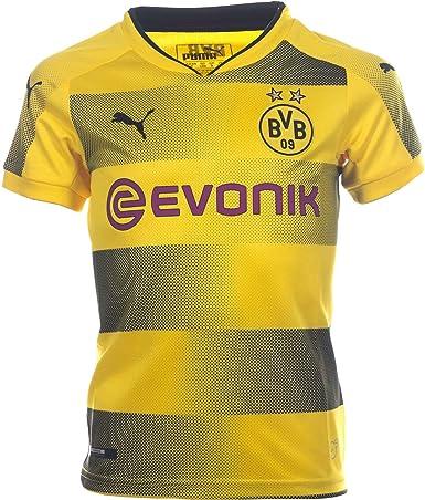 Amazon Com Puma Kids Borussia Dortmund 2017 18 Home Soccer Jersey Sz X Large Yellow Clothing