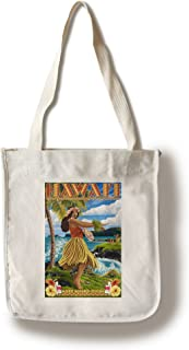 product image for Lantern Press Hawaii - Hula Girl on Coast - Merrie Monarch Festival (100% Cotton Tote Bag - Reusable)