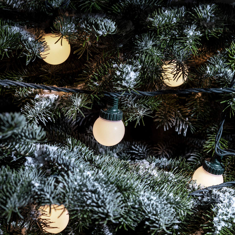 40er LED Party Lichterkette warmweiß 20m koppelbar PRO Serie Lights4fun Lights4fun Lights4fun B00KDJ9FTK Lichterketten 26ecfb