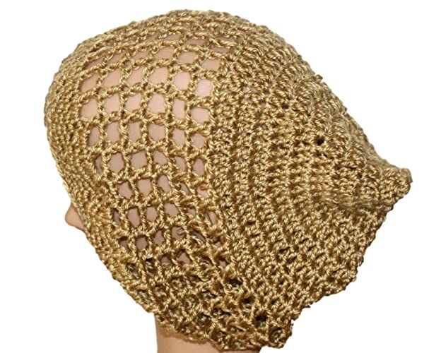 Amazon Com Woman Summer Hat Lightweight Beanie Gold Slouch Hat