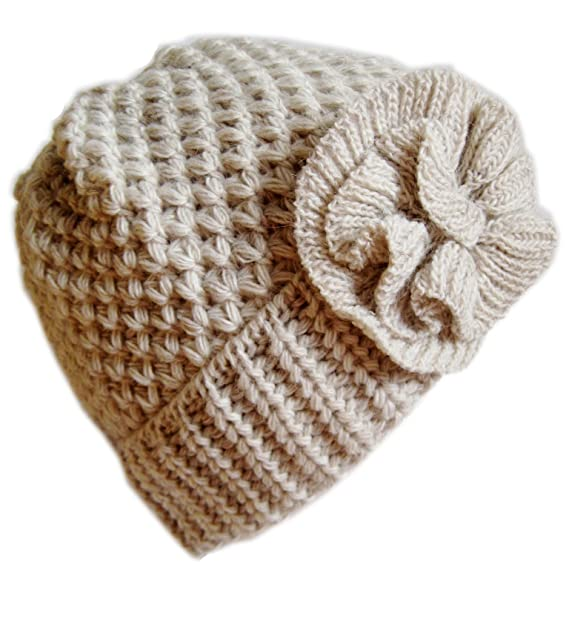 6fa7ab8f09649 Frost Hats Winter Hat for Women BEIGE Girl Teen s Winter Thick Knit Beanie  Ski Hat Frost