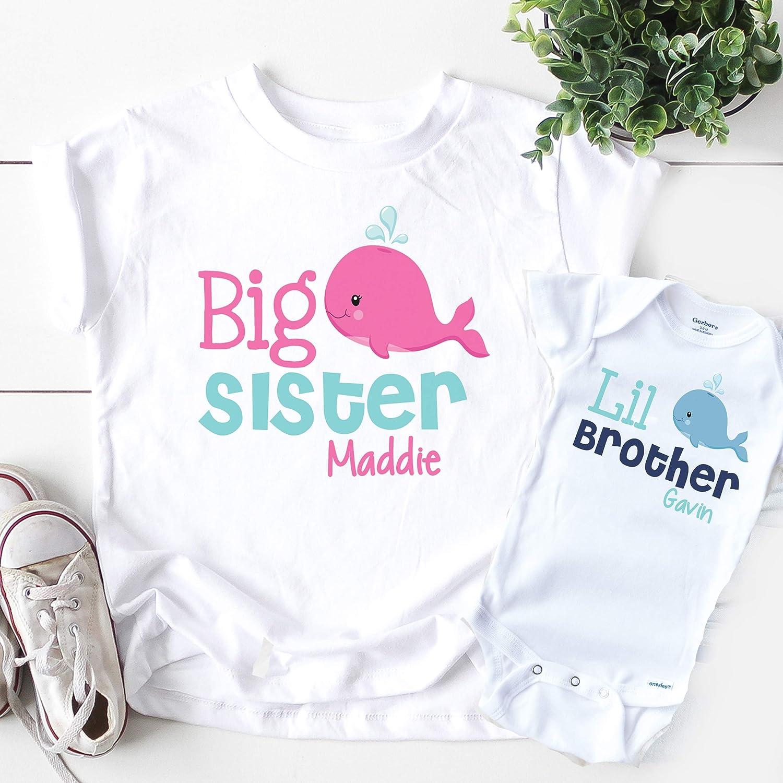 Sibling Shirt Set Little Brother Personalized Shirt Kids Koala Bear Graphic TeeBodysuit Lil Bro Shirt Big Brother Little Brother Shirts