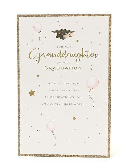 Tarjeta de graduación, tarjeta de nieta, regalo para ella ...