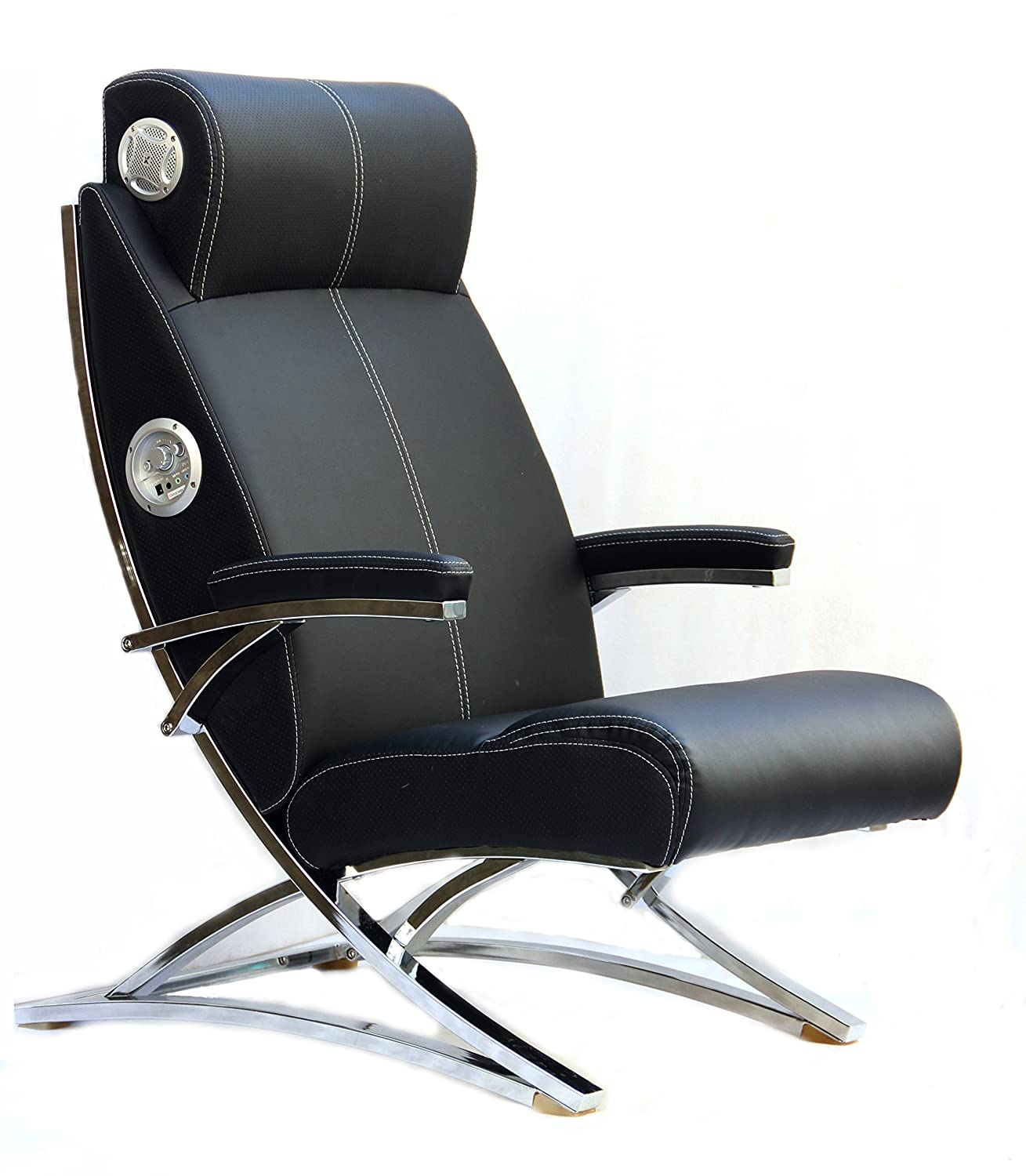 This Product Is One Of The Most Cost Effective Options In The Range Of  Gaming Chairs. There Are Two Built In Speakers With The Chair.