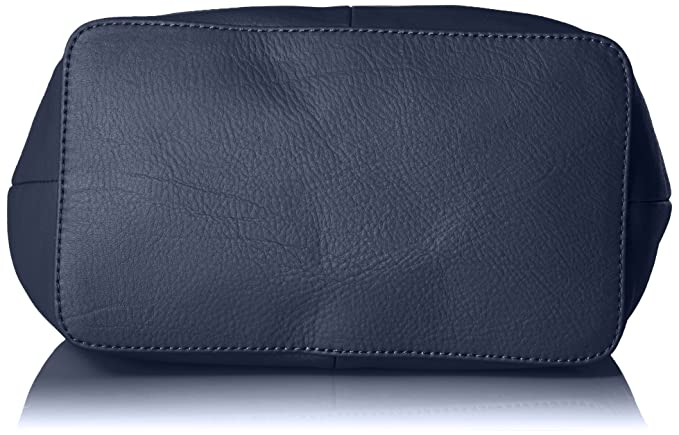 Amazon.com  The Fix Mckenzie Suede and Leather Bucket Crossbody Bag, Navy   Clothing ff5ff704df