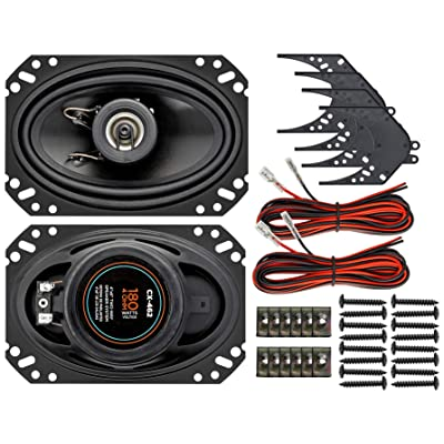 """InstallGear 4"""" x 6"""" Two-Way Speaker System: Home Audio & Theater"""