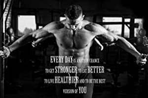EzPosterPrints - Bodybuilding Men Girl Fitness Workout Quotes Motivational Inspirational Muscle Gym Posters - Wall Art Print for Home Office Gym - MOTIVATION-QUOTE-18-18X12 inches