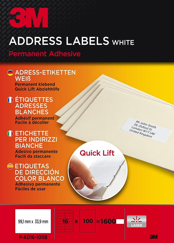 3M - Etiquetas para impresión láser (fáciles de separar del ...