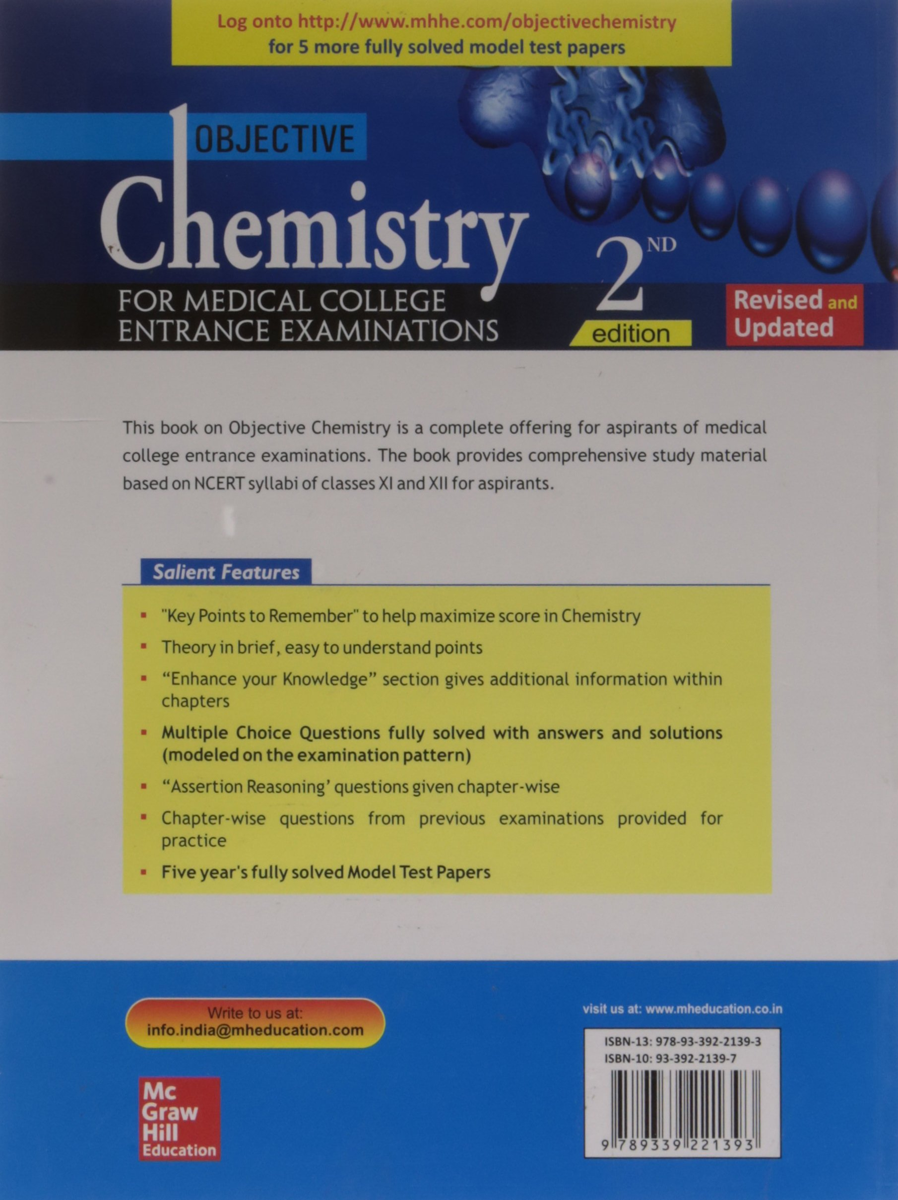 Buy Objective Chemistry for Medical College Entrance Examinations