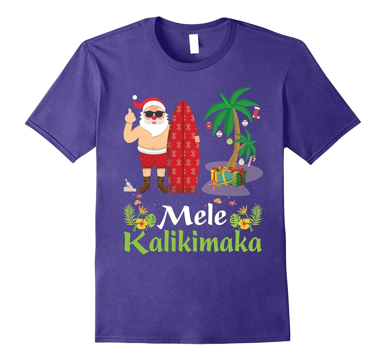 Hawaii Mele Kalikimaka Santa Hawaiian Christmas T-Shirt 3-ANZ