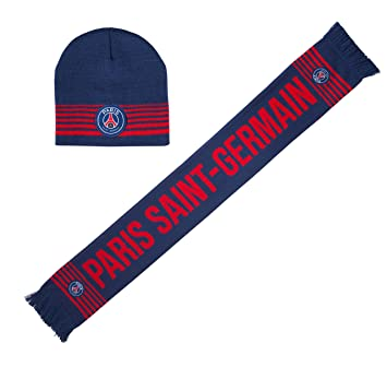 c5d1f7e0c8d04 PARIS SAINT GERMAIN Coffret Echarpe + Bonnet PSG - collection officielle  Taille unique Adulte et grand