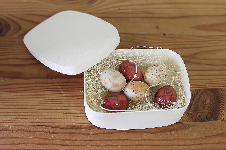 6 St/ück kleine Ostereier aus Keramik