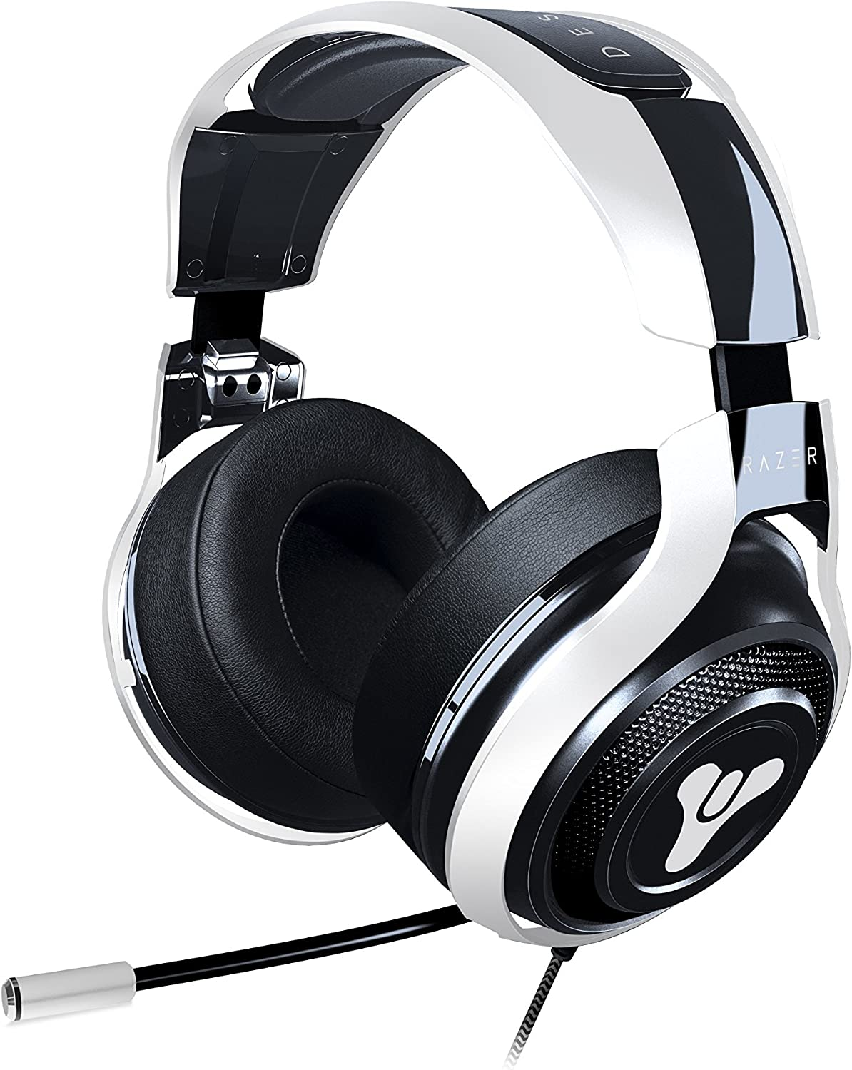 Razer Destiny 2 ManO War Tournament Edition In-Line Audio Control – Unidirectional Retractable Mic – Rotating Ear Cups – Gaming Headset Works with PC, PS4, Xbox One, Switch, Mobile Devices