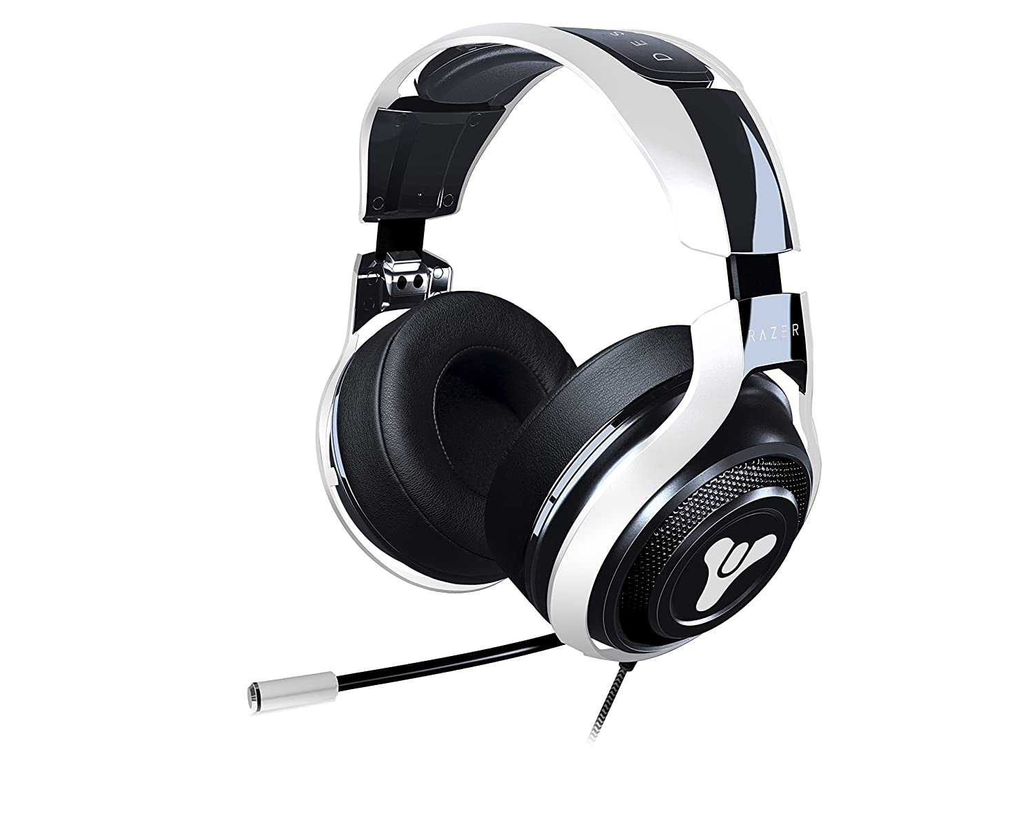 Razer Destiny 2 ManO'War Tournament Edition: in-Line Audio Control - Unidirectional Retractable Mic - Rotating Ear Cups - Gaming Headset Works PC, PS4, Xbox One, Switch, Mobile Devices Razer Inc. RZ04-01920400-R3M1