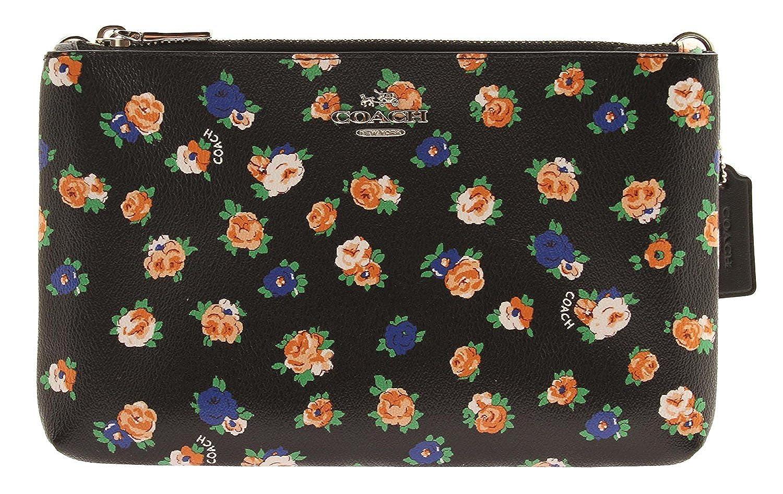 1be7193d73 COACH Lyla Crossbody in Floral Coated Canvas Double Zip Crossbody (Black  Multi)  Handbags  Amazon.com