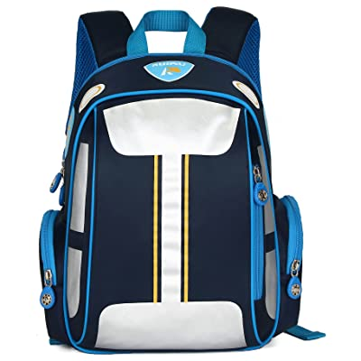 ArcEnCiel Car Backpack for Boys Toddler Bags Kids Bookbag (Blue) | Kids' Backpacks