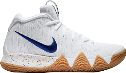 629aaeee9a6 Image Unavailable. Image not available for. Color  NIKE Men s Kyrie 4  Basketball Shoes (White Royal ...