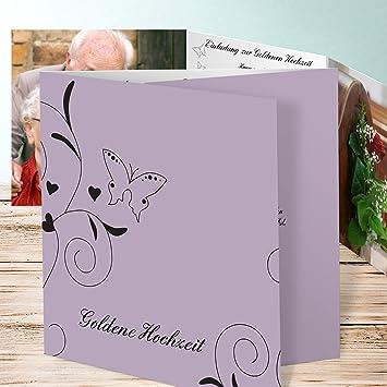 Einladungskarte Goldene Hochzeit Schmetterling 80 Karten